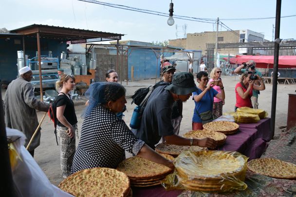 The naan bread we bought here lasted until the end of the trip - Along the Silk Road from Korla to Kashgar, June 2016