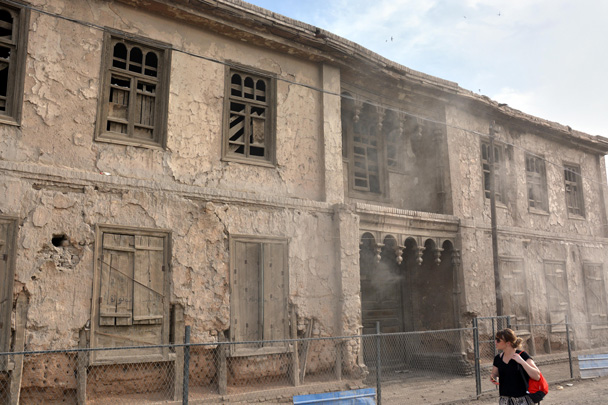 A hundred-year-old house in the city of Kuqa - Along the Silk Road from Korla to Kashgar, June 2016