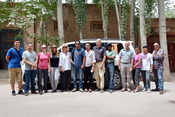 Group photo of the whole team before we leave Kashgar - Along the Silk Road from Korla to Kashgar, June 2016