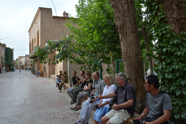We stopped for a rest in the old city. Great spot for people-watching - Along the Silk Road from Korla to Kashgar, June 2016
