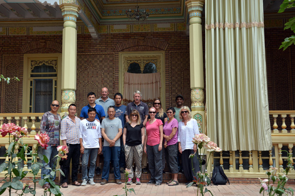 Group photo with our drivers at a family home in Kashgar - Along the Silk Road from Korla to Kashgar, June 2016