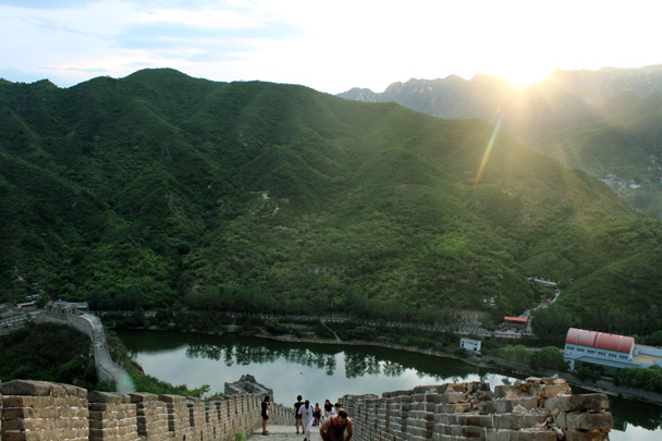 After dinner, we climbed up to watch sunset, arriving just in time! - Sunset over the Huanghuacheng Great Wall, 2016/06/11