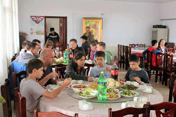 Plenty of dishes to choose from at dinner! - Bashang Grasslands trip, July 2016