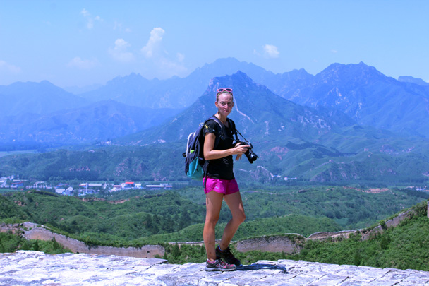 Up on top of a tower - Gubeikou to Jinshanling Great Wall, 2016/07/02