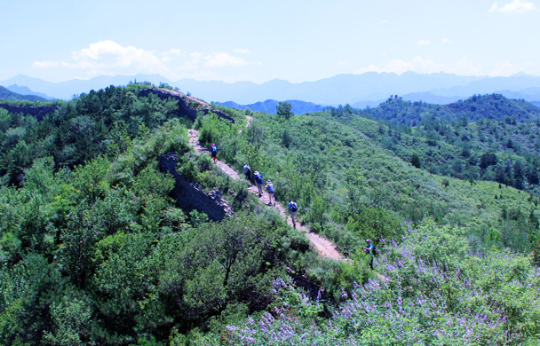We continued along the wall - Gubeikou to Jinshanling Great Wall, 2016/07/02