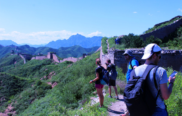 Here we're on the wall at the western end of Jinshanling - Gubeikou to Jinshanling Great Wall, 2016/07/02
