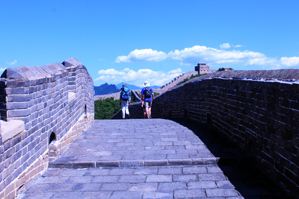 We finished the hike on a restored section of Great Wall - Gubeikou to Jinshanling Great Wall, 2016/07/02