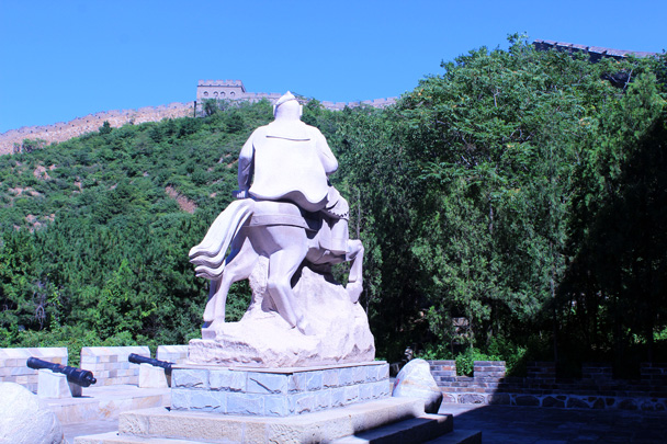 The big statue of General Qi Jiguang, who was responsible for construction of a lot of the Great Wall built near the end of the Ming Dynasty - Gubeikou to Jinshanling Great Wall, 2016/07/02