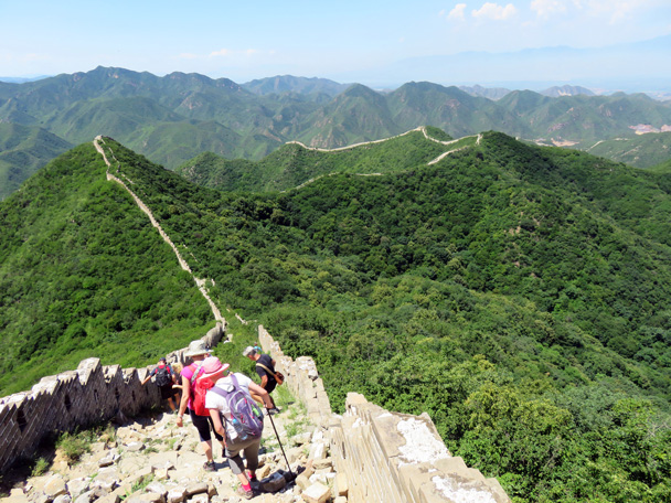 Hiking down - Middle Route of Switchback Great Wall, 2016/07/02