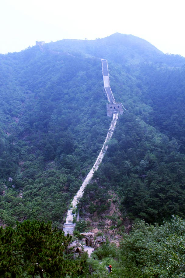 It's steep on the other side, too! - Walled Village to the Little West Lake Great Wall, 2016/07/07