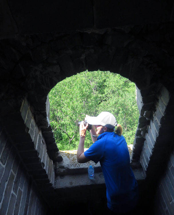 Interesting angle for a photo - Great Wall Spur hike, 2016/07/13