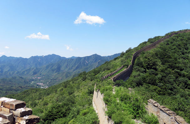 Beautiful weather for a walk. We'd continue up the Great Wall - Great Wall Spur hike, 2016/07/13