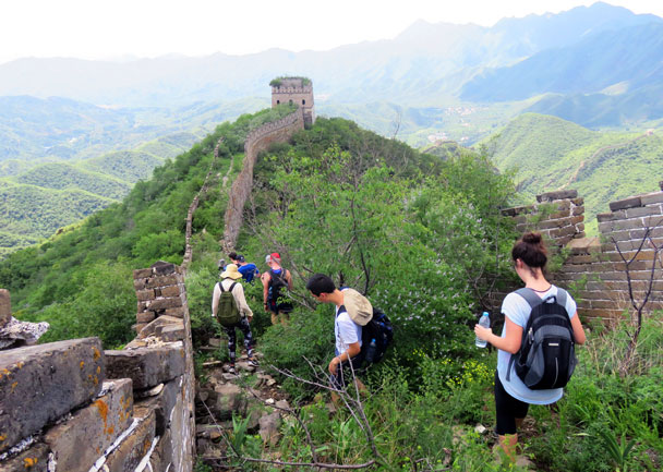 Hiking on down - Great Wall Spur hike, 2016/07/13