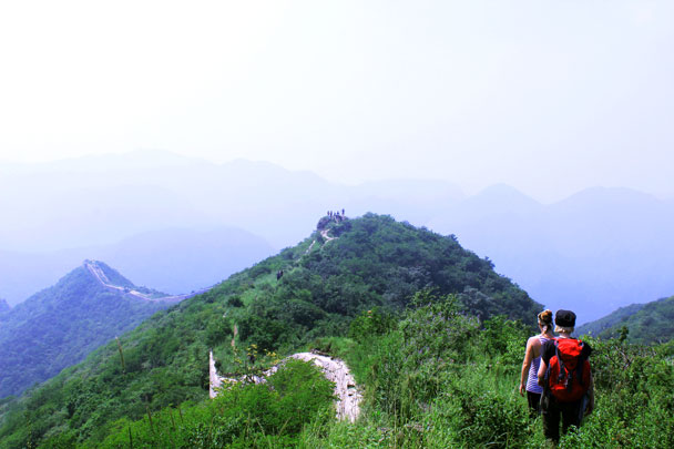We kept on walking along the Great Wall - Middle Route of Switchback Great Wall, 2016/07/23