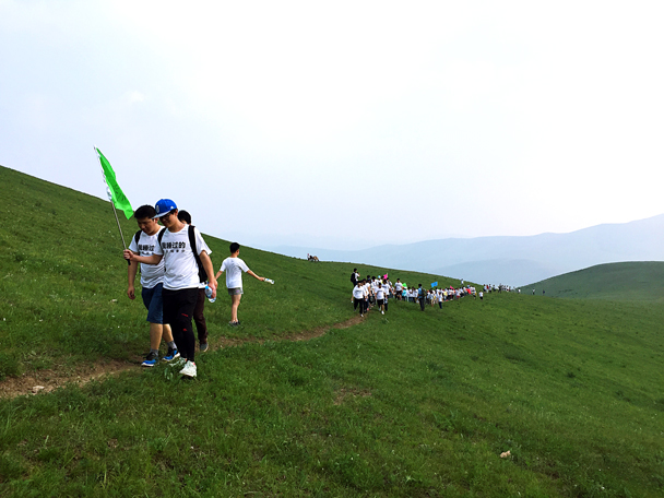 After arriving at the grasslands the group set off on a mission to partake in teambuilding activities atop a peak - Grasslands teambuilding trip for Juzi Entertainment, 2016/07