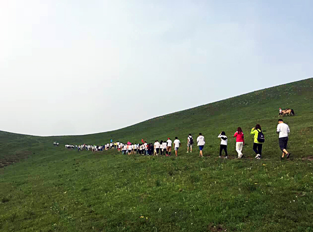 Big group – the whole team who came out - Grasslands teambuilding trip for Juzi Entertainment, 2016/07