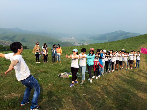 One of the activities - Grasslands teambuilding trip for Juzi Entertainment, 2016/07