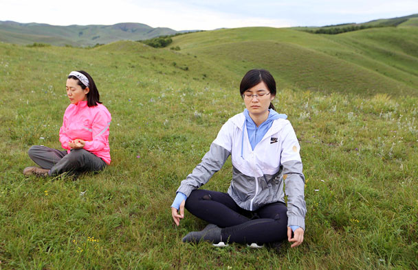 Peaceful - Yoga and Meditation at the Bashang Grasslands, August 2016