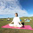 Yoga and Meditation at the Bashang Grasslands, August 2016
