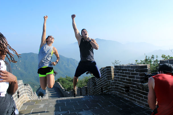 Made it to the top! - Switchback Great Wall camping, 2016/08