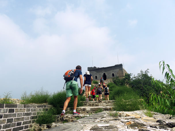 Almost at the tower - Longquanyu Great Wall to the Little West Lake, 2016/08/10