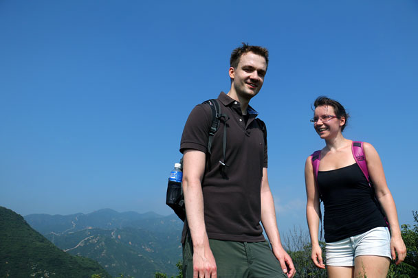 Hiking on their honeymoon, lovely! - Switchback Great Wall Camping, 2016/8/20