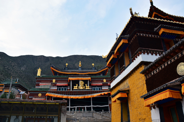 Views of the halls at the back - Xiahe, Labrang Monastery, and the Zhagana area in southern Gansu, September 2016