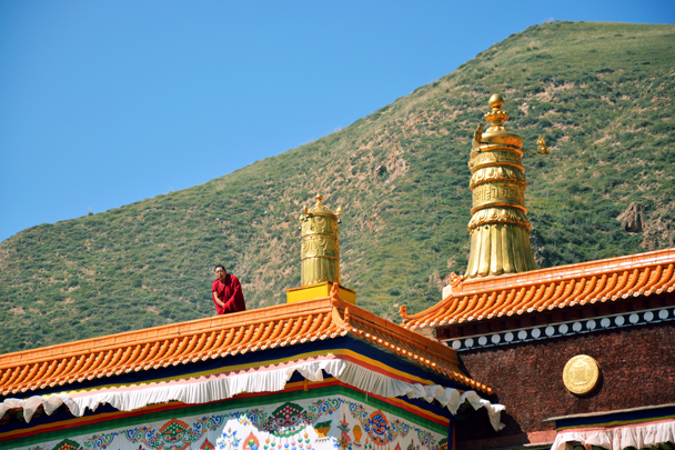 Finished trumpeting - Xiahe, Labrang Monastery, and the Zhagana area in southern Gansu, September 2016