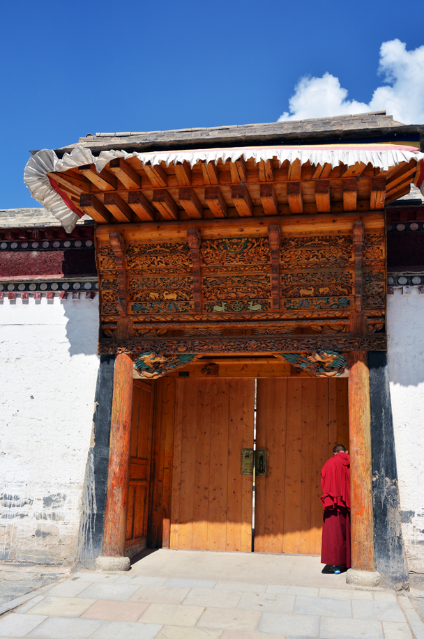 Behind the door is the tantric school - Xiahe, Labrang Monastery, and the Zhagana area in southern Gansu, September 2016