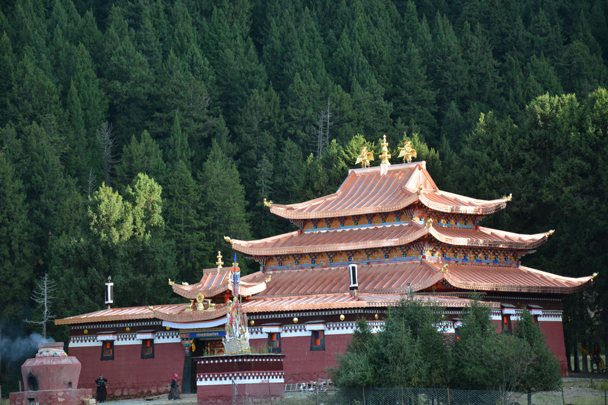 A new temple, founded in 2015 - Xiahe, Labrang Monastery, and the Zhagana area in southern Gansu, September 2016