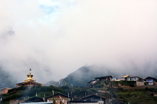 The mist was getting thicker and thicker - Xiahe, Labrang Monastery, and the Zhagana area in southern Gansu, September 2016
