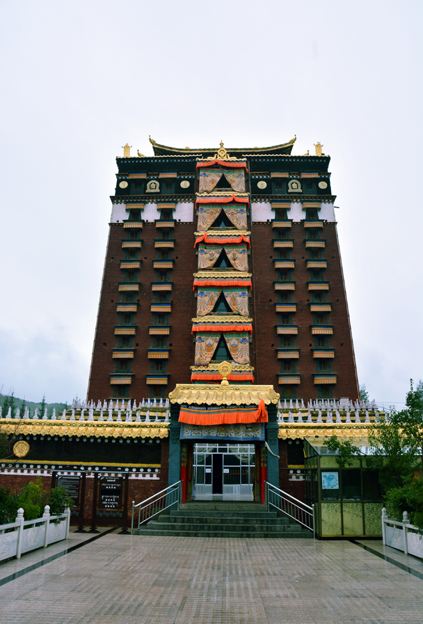 Near Lanzhou we stopped to visit this nine-storey temple of the Milarepa Buddha - Xiahe, Labrang Monastery, and the Zhagana area in southern Gansu, September 2016