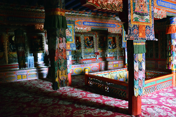 Inside the temple - Xiahe, Labrang Monastery, and the Zhagana area in southern Gansu, September 2016