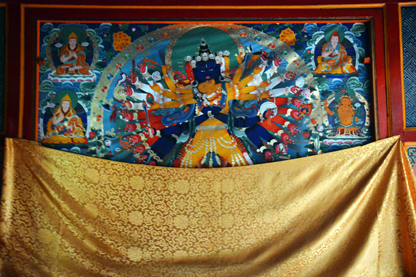 A thangka - Xiahe, Labrang Monastery, and the Zhagana area in southern Gansu, September 2016