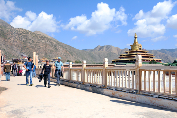 A walkway by a temple - Xiahe, Labrang Monastery, and the Zhagana area in southern Gansu, September 2016
