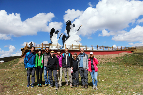 Group photo at the Guomang Wetlands - Xiahe, Labrang Monastery, and the Zhagana area in southern Gansu, September 2016
