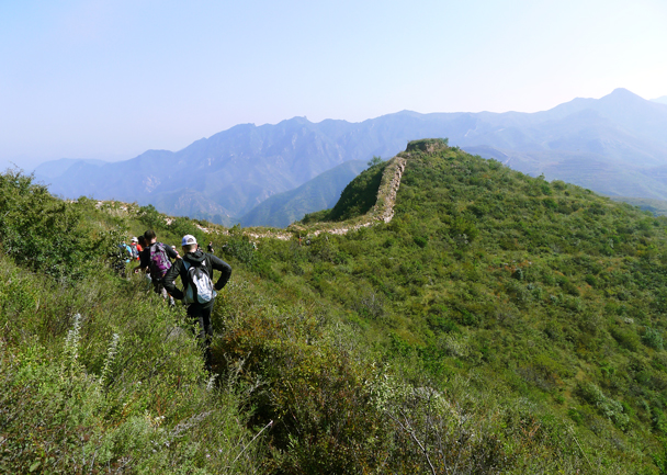 A rough line of Great Wall up in the hills - Yanqing Great Wall and High Tower Challenge, 2016/09/24