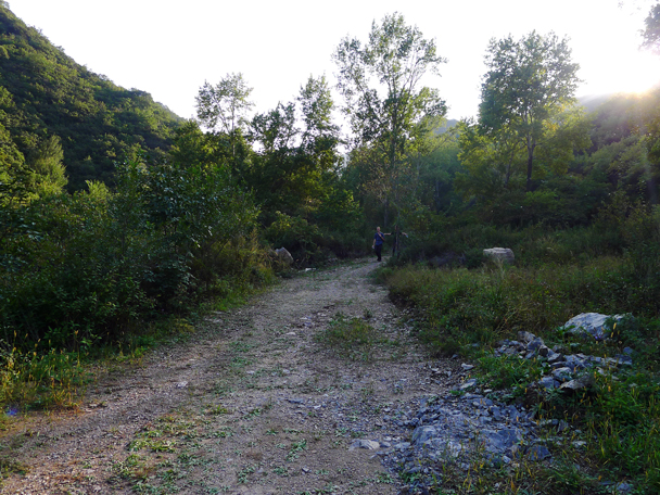 The last part of the hike took us down a gravel road - Yanqing Great Wall and High Tower Challenge, 2016/09/24