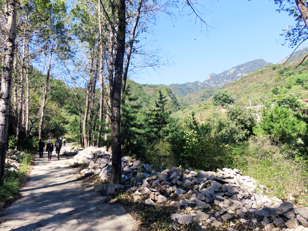 Heituo Mountain can be seen off in the distance - Jiankou Big West Great Wall, 2016/9/28
