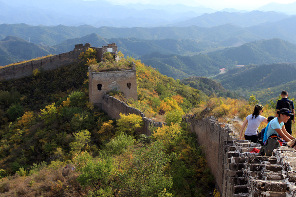 Here's the start of the Gubeikou Great Wall, just on the other side of the military zone - Jinshanling Great Wall to Gubeikou Great Wall, 2016/10/03