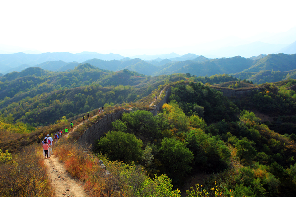 Walking down the Gubeikou Great Wall - Jinshanling Great Wall to Gubeikou Great Wall, 2016/10/03