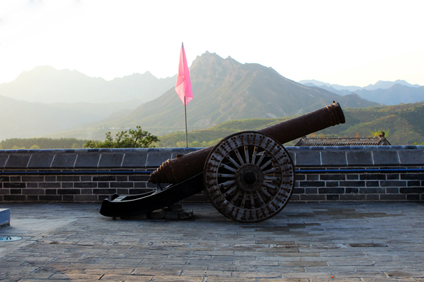 A cannon at Gubeikou's North Gate, where we finished the hike - Jinshanling Great Wall to Gubeikou Great Wall, 2016/10/03