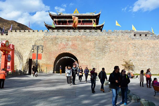 The South Gate of Songpan Ancient Town - Jiuzhaigou and Huanglong National Parks, Sichuan, 2016/11