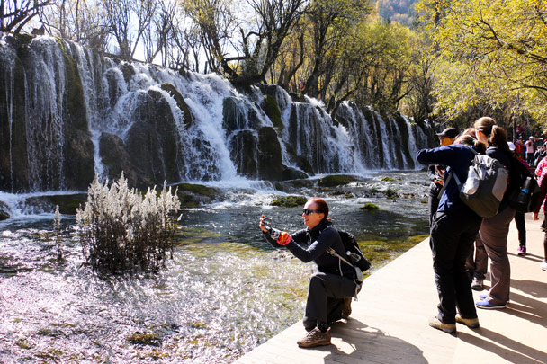 One of the waterfalls - Jiuzhaigou and Huanglong National Parks, Sichuan, 2016/11