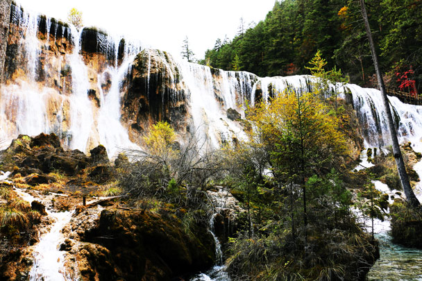 Nuorilang Waterfall - Jiuzhaigou and Huanglong National Parks, Sichuan, 2016/11