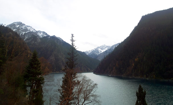 Long Lake – the largest in the park, and sited at the highest altitude - Jiuzhaigou and Huanglong National Parks, Sichuan, 2016/11