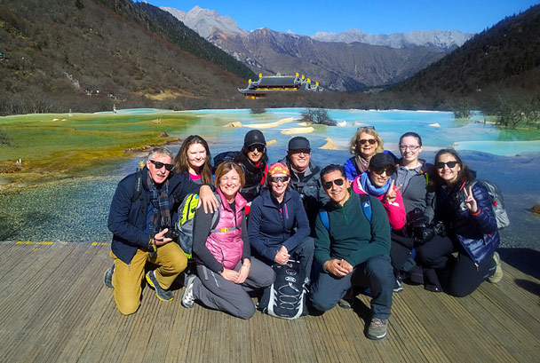 Group shot - Jiuzhaigou and Huanglong National Parks, Sichuan, 2016/11
