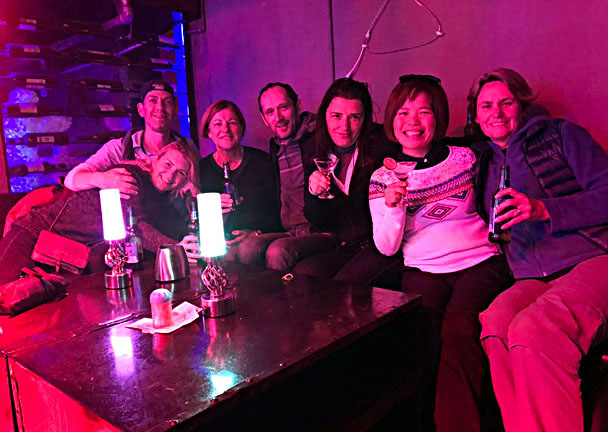 After dinner we went out for a few drinks - Lijiang and Shangri-La, Yunnan Province, November 2016