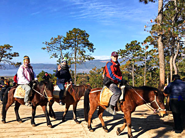 Horse riding near Lashi Lake - Lijiang and Shangri-La, Yunnan Province, November 2016