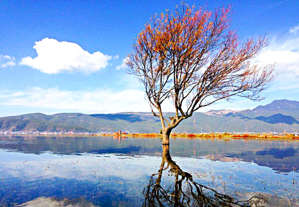 Lashi Lake scenery - Lijiang and Shangri-La, Yunnan Province, November 2016